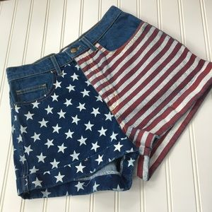 American Apparel high waisted shorts SIZE 27